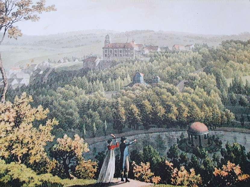 Zámek Vlašim, čínský pavilon a naučná stezka parkem