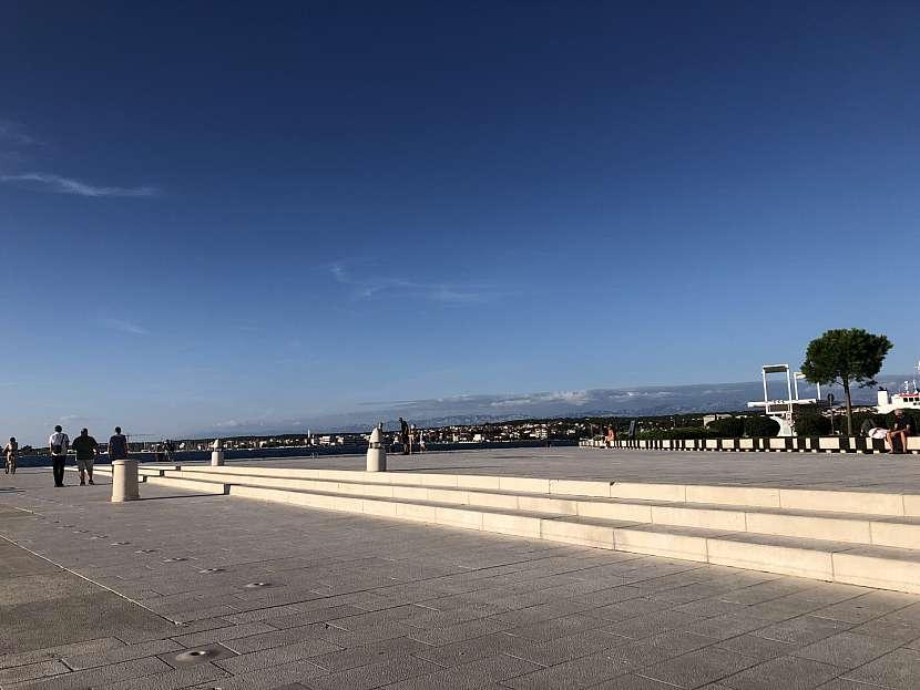 Nábřeží Zadaru s vodními varhanami