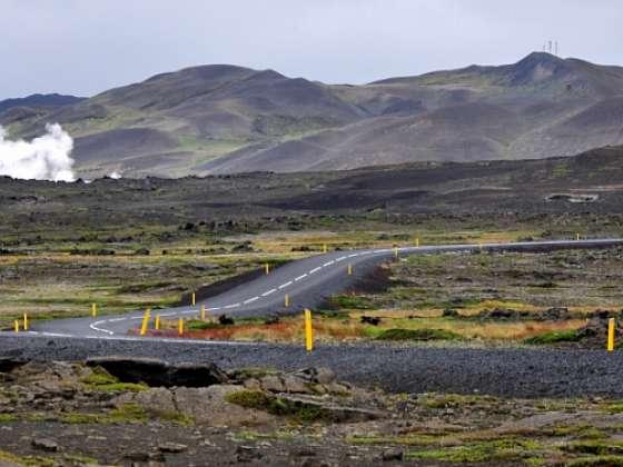 Islandské jezero Mývatn
