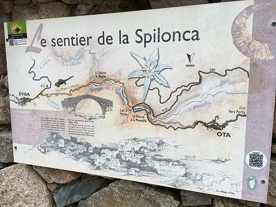 Korsika - soutěska Spilonca
