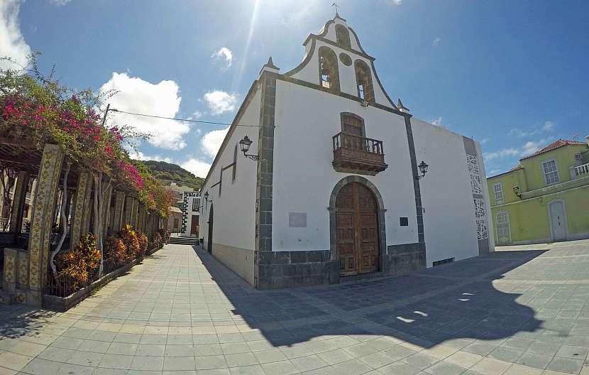Kostel San Miguel Arcángel v Tazacorte na La Palmě.