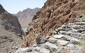 Dochovalé zbytky starodávné perské zásobovací a vojenské stezky.