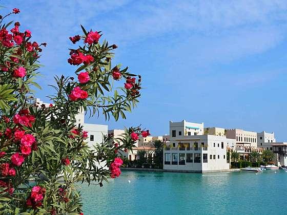 Luxusní marina v Amway Islands v Bahrajnu.