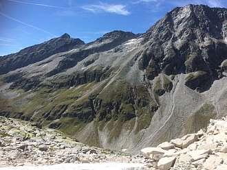 Pohled ze sedla na druhou stranu - do Tyrolska