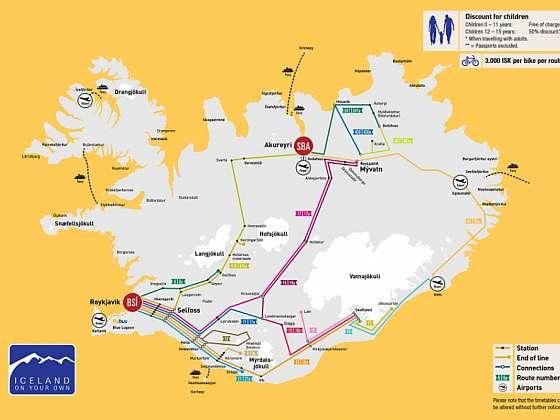 Cestování po Islandu- veřejná doprava autobusem