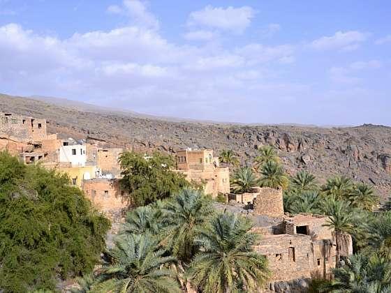 Pohled na horní část Misfat Al Abriyeen.