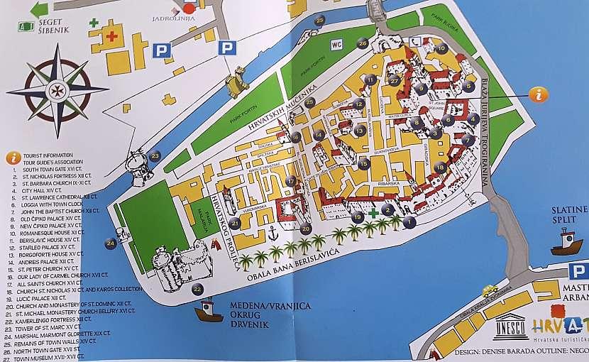 Mapa Trogiru